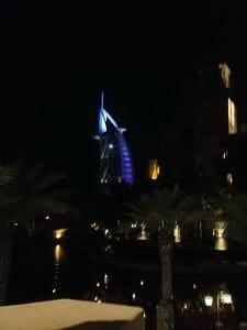 Burj Al Arab from the Souk Medinat