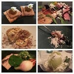 Seven course degustation menu