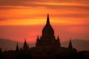 Sunrise from Shwegugyi Pagoda