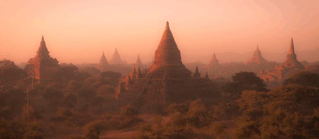 Bagan. It's in Myanmar.