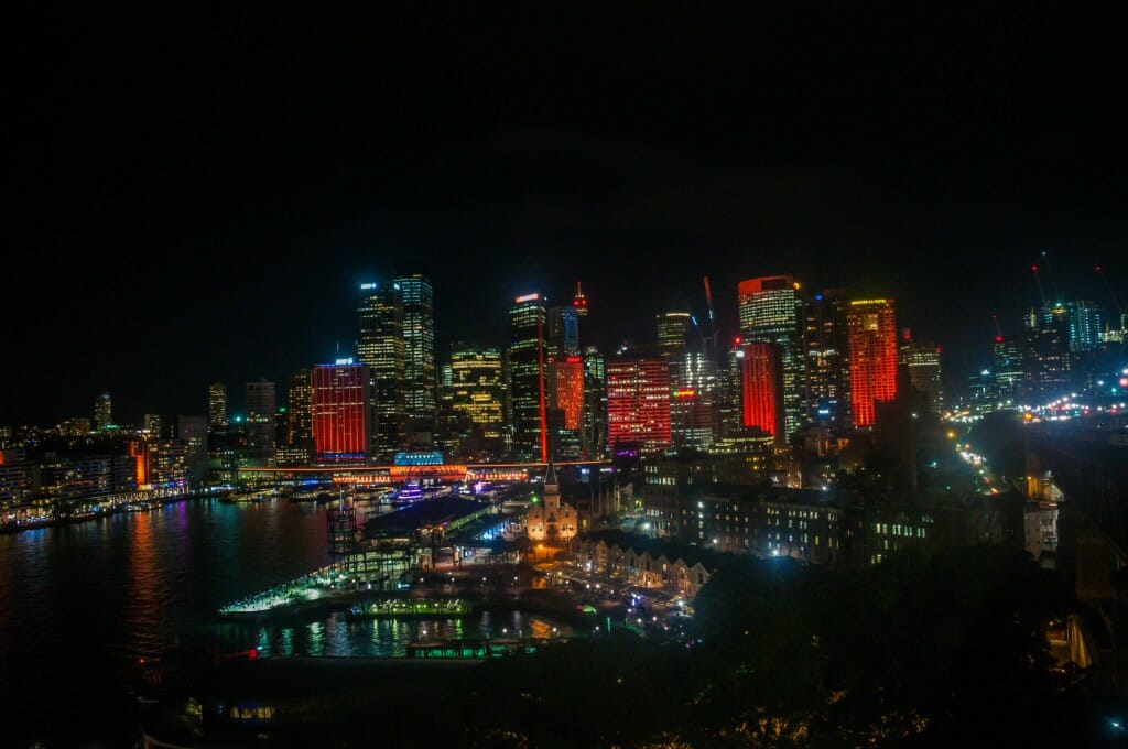 Sydney CBD from the Harbour Bridge