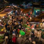 Long Bien Market from Long Bien Bridge