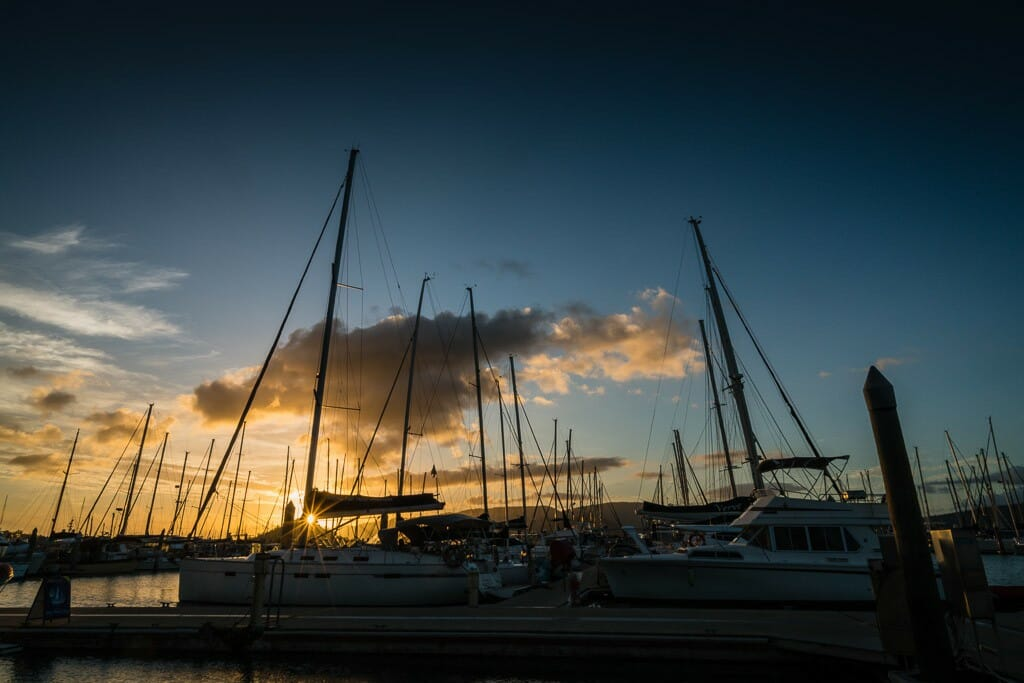 Sunset at Abel Point Marina